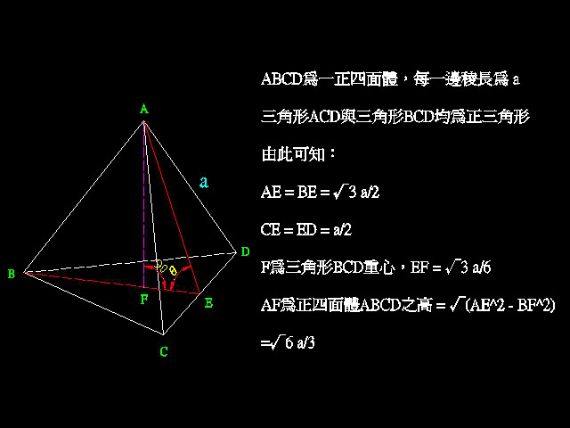[討論] 請問正四面體的畫法? T003
