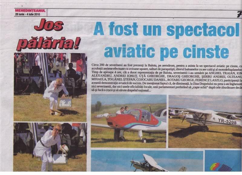 A fost Drobeta Fly In 2010 si Cupa Dunarii - Competitii cu aeronave ULM ArticoleDrobetaFlyIn2010