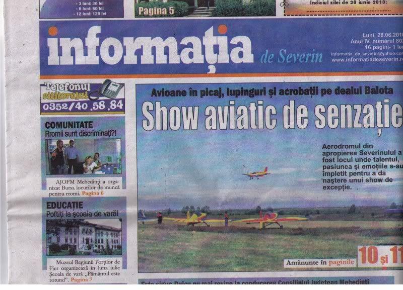 A fost Drobeta Fly In 2010 si Cupa Dunarii - Competitii cu aeronave ULM ArticoleDrobetaFlyIn20106