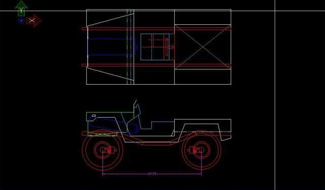 Proyecto Land Rover 88 Militar RC en Chapa CAD88M03