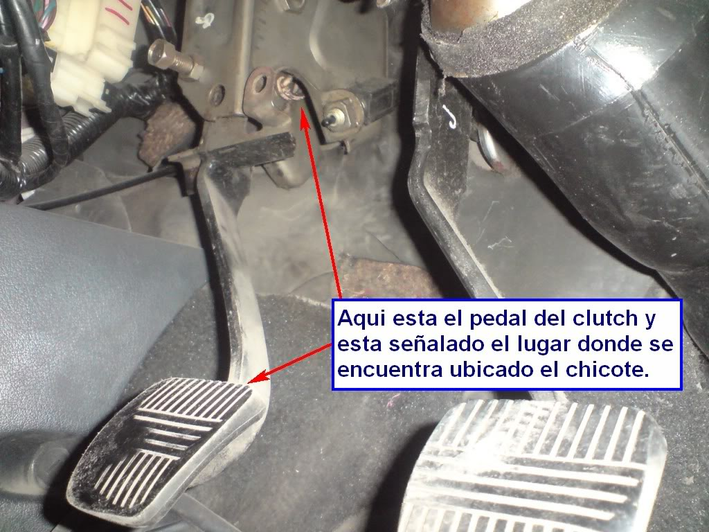 Cambio de chicote de Clutch de Nissan 2000GSR Chkt1