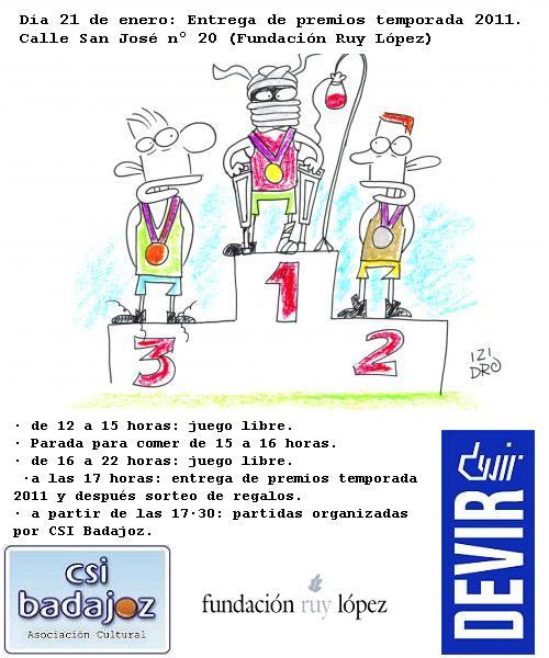 CIERRE DE LA TEMPORADA 2011 Premios2011