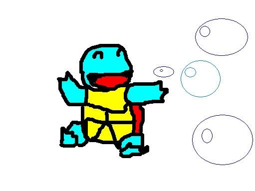 Những hình vẽ ngộ nghĩnh về pokemon bằng paint của thành viên . Squitle-1