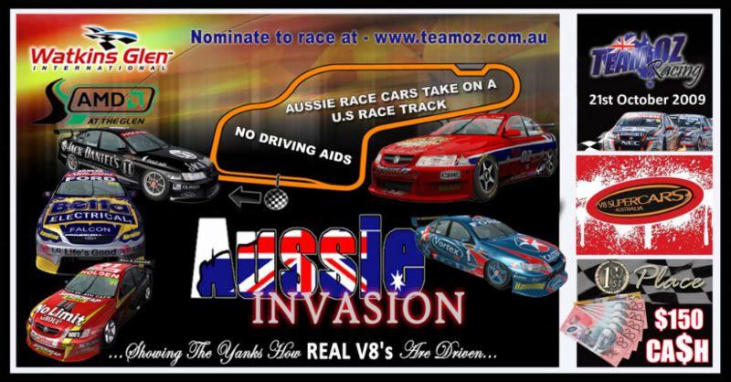 TeamOz Presents The 2 Hour Aussie Invasion 2009TeamOzUSAV8Poster