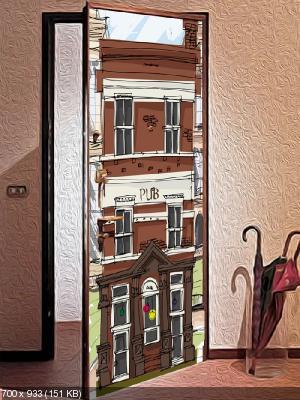 Преображаем внешний вид входной двери 46cba192084549ab918e7fe031966dab