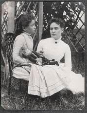 1888 photo depicts Helen Keller & her teacher Helen