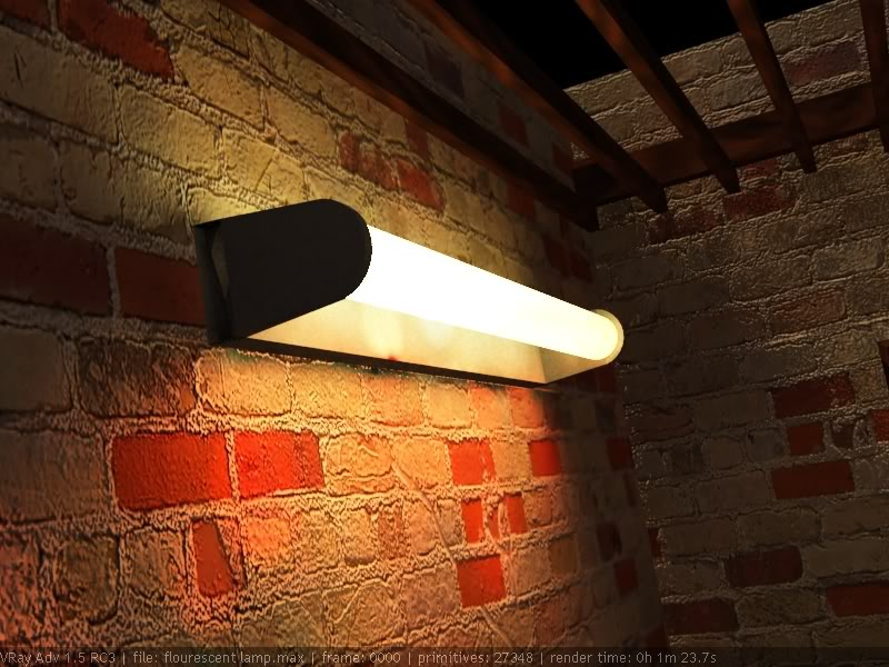 Self Illuminating Object Tutorials ( Flourescent Lamp) Finalimage2