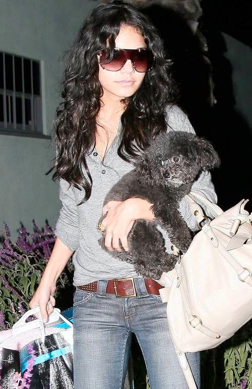 Vanessa i njen pas Shadow Vanessa-hudgens-dog-hollywood-124-8