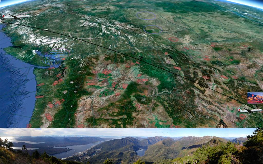 Ketchikan-Jackson Hole de 767 Map_PAKT-KJAC