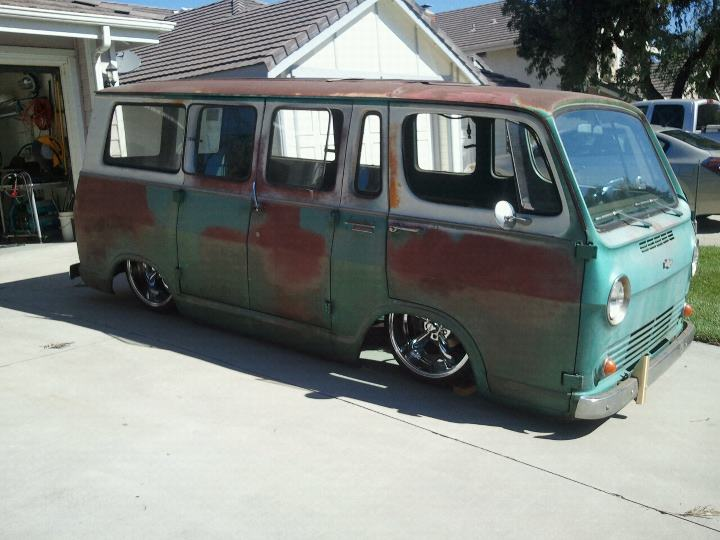 Jendros Customs 1965 Chevy Van Laying Body