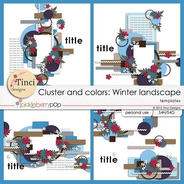 Cluster and colors: Winter landscape - December 14th Tinci_CC_Winterlandscape_prev1
