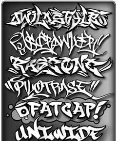 Superpack de unas 400 fuentes Grafitis [MU] FontsGrafitty