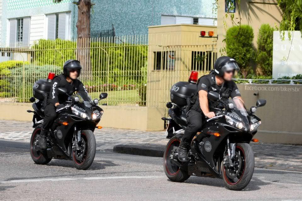 Yamaha R1 COPE - E aí, da pra pensar em escapar? Motopoliciadecuritiba
