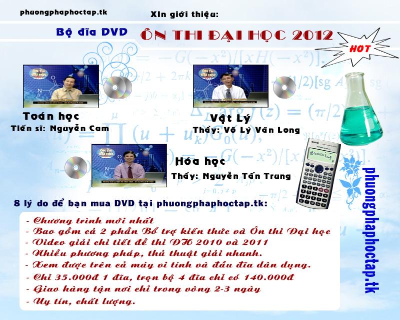 [Hot] Bộ đĩa DVD ôn thi Đại học Quangcaodia2012