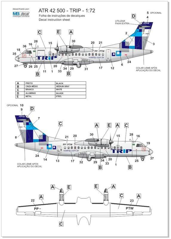 ATR 42 500 TRIP - Resina - 1:72 ATR_1_72_TRIP_08