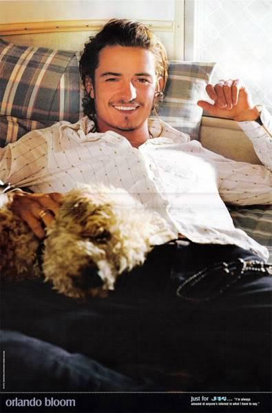 El chico del dia - Página 3 Orlando-bloom-with-dog