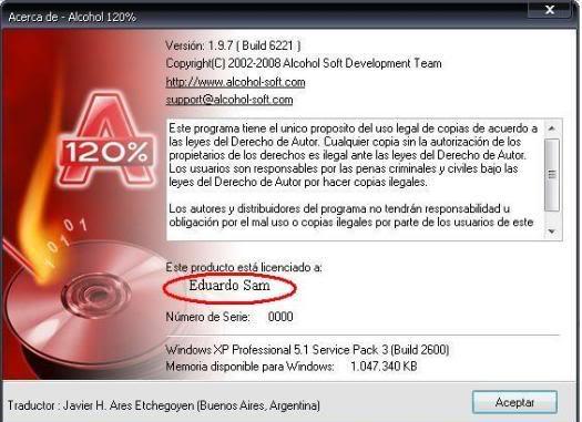Descargar Alcohol 120% 1.9.7 Full +Tutorial [Español] [MU] ALCOHOL