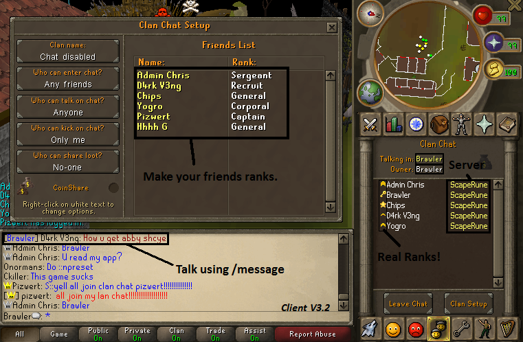 Scape 513 newest client with source Clanchat
