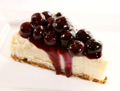 [Mỹ] Blueberry Cheesecake - Bánh pho-mát mềm và quả việt quất Blueberry-Cheesecake