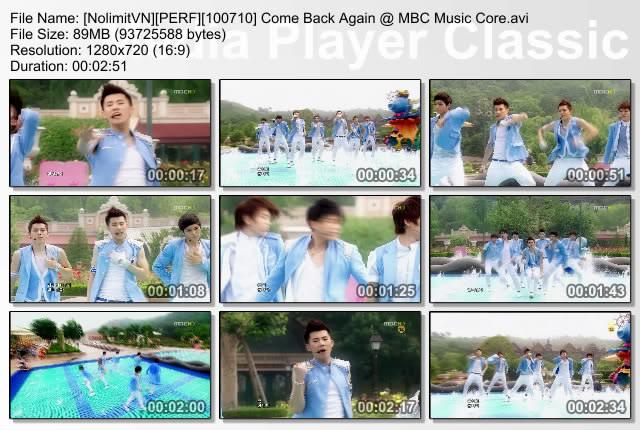 [PERF][100710] Infinite - Come Back Again @ MBC Music Core K-7