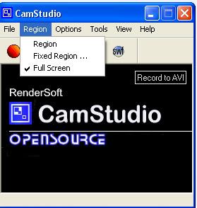 موقع تحميل برنامج تصوير الفيديو [cam studio] + شرح كيفية إستعماله Region