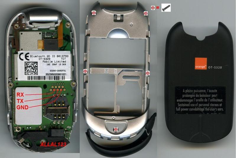 مخطط كابيل Alcater S320 ALCATELS320pinouts
