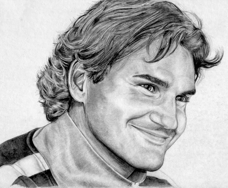Dibujos de Roger Federer -GentleKiller