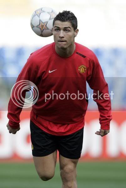 Entrenamiento del Manchester United 31/3/2008...Roma,Italia 1-11