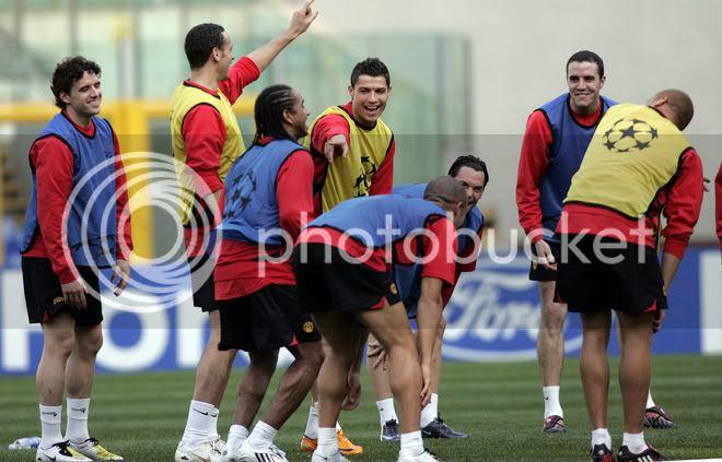 Entrenamiento del Manchester United 31/3/2008...Roma,Italia 13-4
