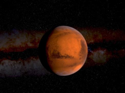 The Milky Way Galaxy Mars
