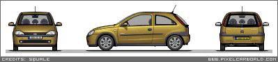 my pixal art cars :) VauxhallCorsa14SRi02