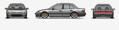 my pixal art cars :) Greysaloonloweredandchangedrims-4
