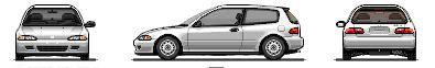 my pixal art cars :) Whitebase