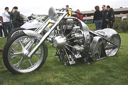 Moto com motor radial. Moto-chopper-motor-radial-1