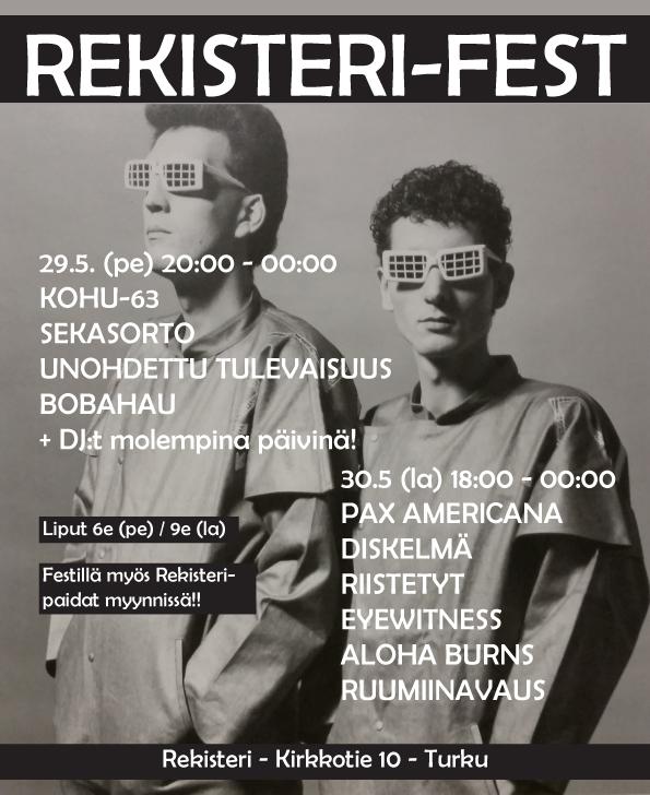 REKISTERI-FEST 29.5-30.5 Turku PUNK @ HARD CORE @ FUZZ Wwwrekisterifest_1