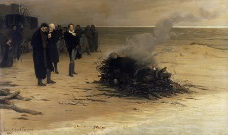 ოზიმანდია, მეფეთ მეფე ვარ გარდასული... The_Funeral_of_Shelley_by_Louis_Edo