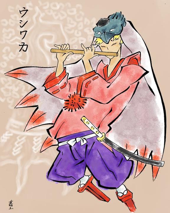 Hikaru's blades Okami__Waka_colored_by_SojiOkage