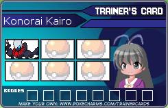 Sandgem Pokemon Center KonoraiPlayerCard