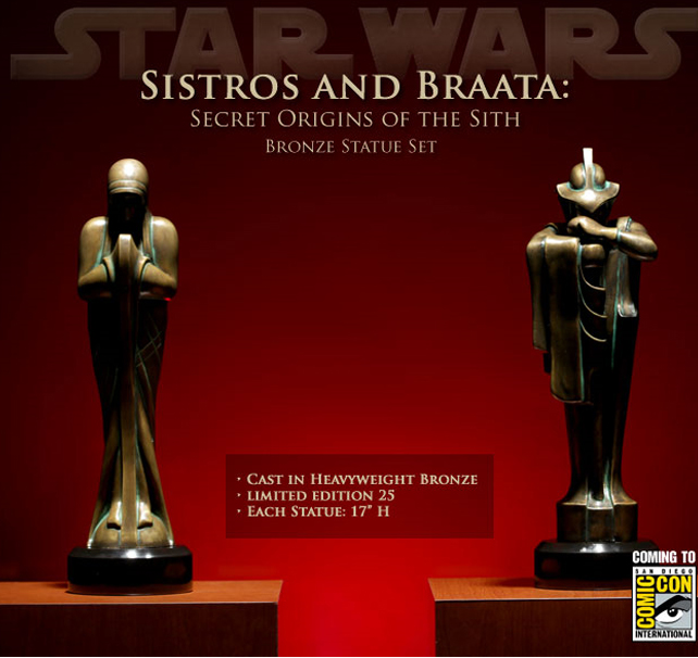 Statue Bronze Sistros and Braata Sithbronze