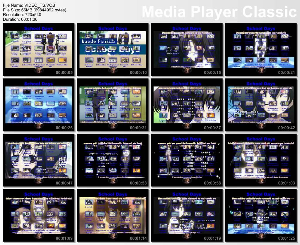School Days 12/12 + 2 Ovas + Ona [1 DVD]  SCLDM