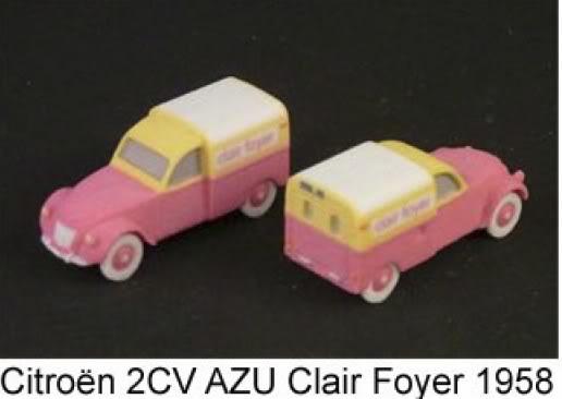 A2Models A2Models-2cvAZUClairFoyer1958