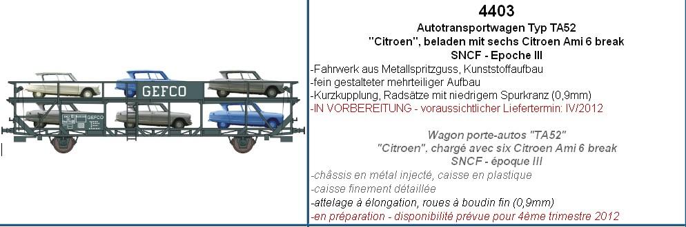 MAKETTE Citroën au 1/87° Wagonporte-autosAmi6