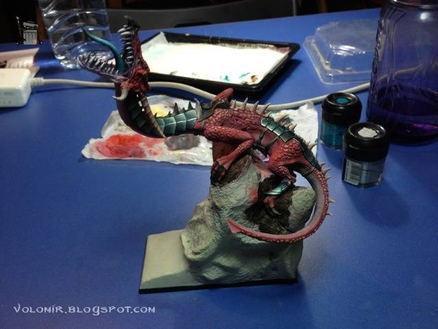 brutal paso a paso de un dragon alto elfo Dragon_wip_249