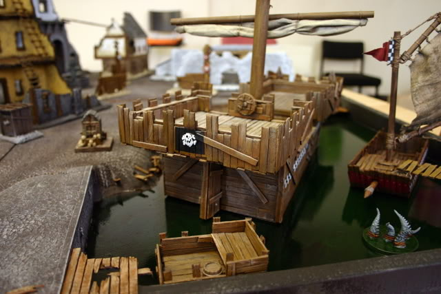Flame On's Mordheim Scenery - Sartosa! - Page 5 Harbourwithboat