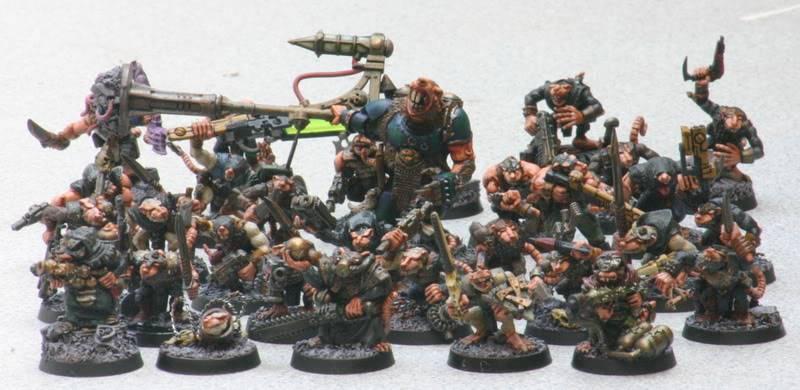 Zelophahad's Ratmen with guns Mouldersmutants
