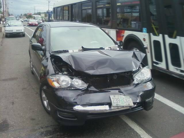 Was rear ended in the Monte today... Hiscar