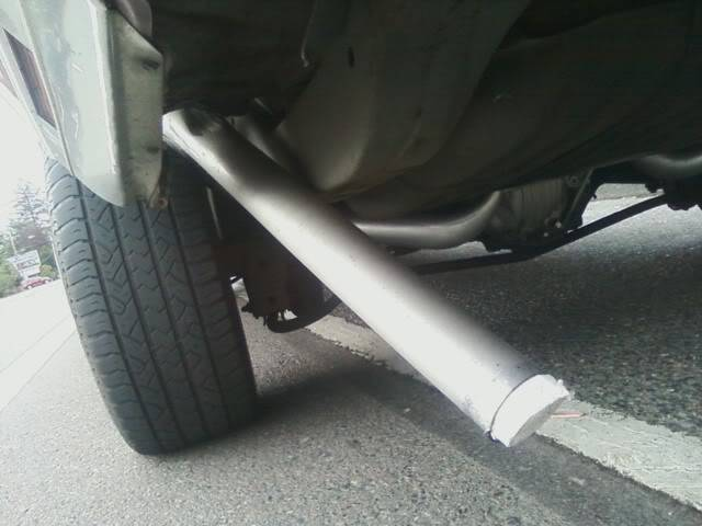 Was rear ended in the Monte today... Mybenttailpipe