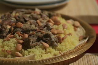 Мансеф - традиционный иорданский рис с бараниной и кефирной шорбой. Араб.кухня Mansef