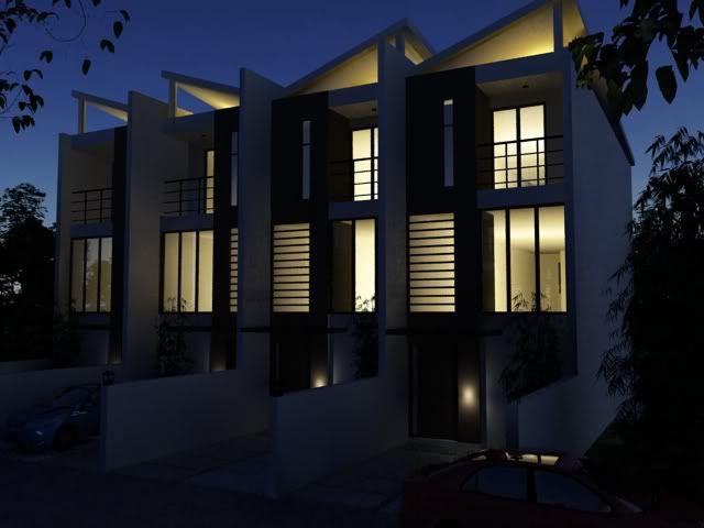 3d exterior render-robinsons housing Testrendernightscene