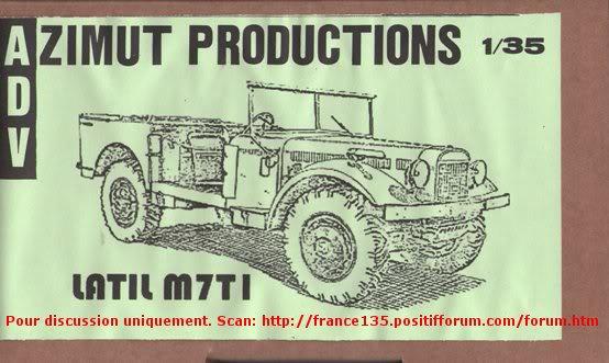 Latil M7T1. Azimut Productions, ref 35044. 1/35. Kit résine et photodécoupe. LATILM7T1AZIMUT1-35BOXART